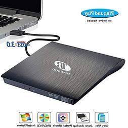 USB 3.0 External DVD CD Drive Burner,TENNBOO Portable CD/DVD