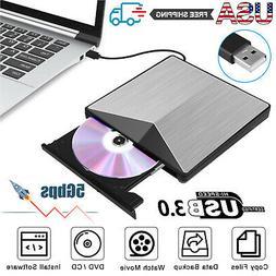 USB 3.0 External DVD CD Drive Reader Writer Player Rewriter