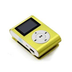 Yoyorule USB Clip MP3 Player LCD Screen Support 32GB Micro S