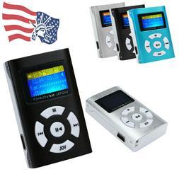 USB Mini Metal MP3 Player LCD Screen Support 32GB Micro SD T