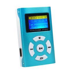 USB Mini MP3 Player LCD Screen Support 32GB Micro SD TF Card