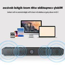 USB Wired Computer Speaker SoundBar Stereo Subwoofer Powerfu