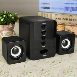 USB2.1 Power Computer Speakers Wired Desktop PC Laptop Syste