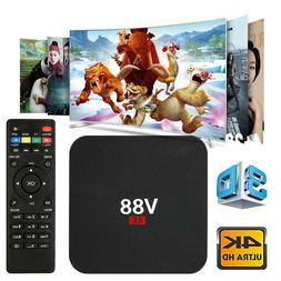 V88 Android 7.1 Smart TV Box RK3229 1+8GB 4K Quad Core WiFi