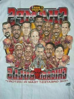 Vintage Chicago Bulls Champions Pro Player  White Gildan Rep