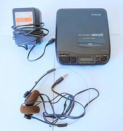 Vintage Sony D-34 Discman CD Compact Player with Adapter & H