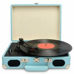 Vintage Turntable 3 Speed Vinyl Record Player Supports USB/R