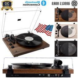 Vintage Vinyl Record Player Turntable Bluetooth Two-Speed Sp