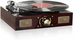 vintage vinyl record player with speaker classic