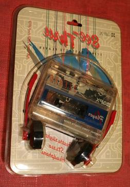 Vintage Walkman Style Cassette Player c3015 GPX See-Thru Cle