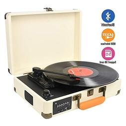 DIGITNOW Record Player, Turntable Suitcase with Multi-functi