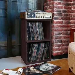 Vinyl Record LP Disc Album Storage Turntable Stand 2-Shelf R