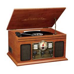 Vinyl Record Player 3-Speed Turntable CD Cassette FM Radio B