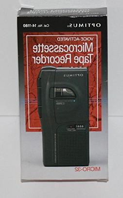 Optimus Voice-Activated Microcassette Tape Recorder MICRO-32