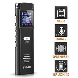 Digital Voice Activated Recorder,16GB Mini Sound Audio Rec