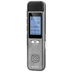 Digital Voice Recorder, ZoiyTop 8GB 3072Kbps Sound Audio Rec