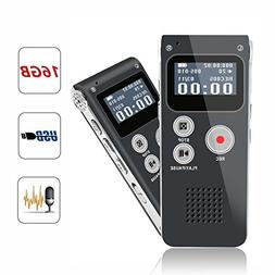KLAREN 16GB Digital Voice Recorder 16G Dictaphone MP3 Player