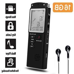 16GB Digital Voice Recorder-Mini HD Voice Recorder 580 Hours