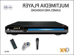 QFX VP-113 DVD Player All Region-Free Multi-Zone  +Karaoke +