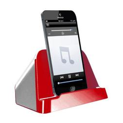 Vibe VSAU-595-RED Tablet and Mobile Speaker, Red