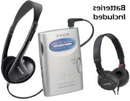 Sony Walkman Compact Portable Lightweight AM/FM Stereo Radio