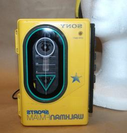 SONY Sports WALKMAN FM/AM/Cassette WM-F45 ~ Yellow ~ Water R
