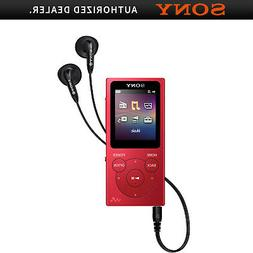 Sony Walkman NW-E395 16 GB Flash MP3 Player - Red - Photo Vi
