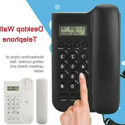 Wall Mounted Corded Home Office Landline Phone With Caller I