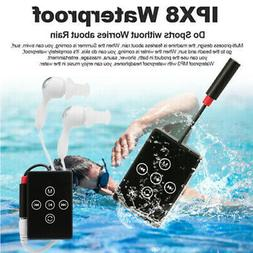 Waterproof 8GB Sport MP3 Music Player FM Radio w/Headphone C