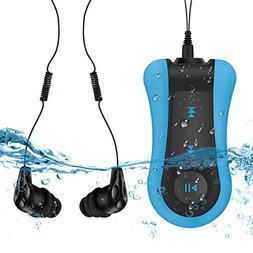 8GB Waterproof MP3 Player with Clip, Comes Waterproof Headph
