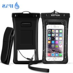 AGPTEK Waterproof Phone Case IPX8 Underwater Phone Pouch Flo