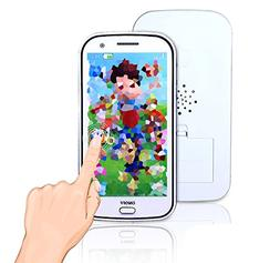 Cooplay White 3D picture Toy Mobile Cell Phone Touch Screen