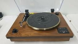 wireless 3 speed turntable stereo speakers natural