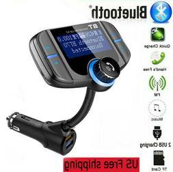 Wireless Bluetooth  FM Transmitter Car Radio Adapter Kit MP3