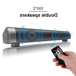 Sanwo Wireless Bluetooth Soundbar Channel 2.0 TV Sound Bar w