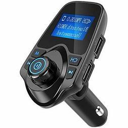 Nulaxy Wireless In Car Bluetooth FM Transmitter Radio Adapte