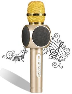 Wireless Karaoke Microphone, Pecosso Bluetooth Microphone, P
