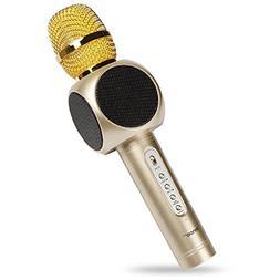 Wireless Karaoke Microphone, Innoo Tech 4-in-1 Portable Blue