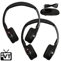 Wireless TV Headphones  Hearing Aid FM Stereo Dual Channel