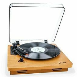 Wrcibo Record Player, Vintage Turntable 3-Speed Belt Drive V