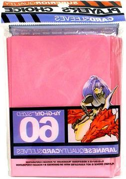 Player's Choice Yu-Gi-Oh! PINK Sleeves - Designed for Smalle