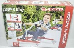 Radio Flyer Ziggle Ride-On Red Wiggle Twist Ride Adjustable