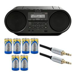 Sony ZSRS60BT CD Boombox with Bluetooth and NFC  Bundle